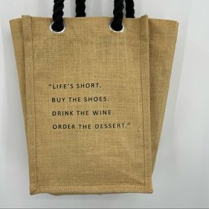 Wine tote grocery bag